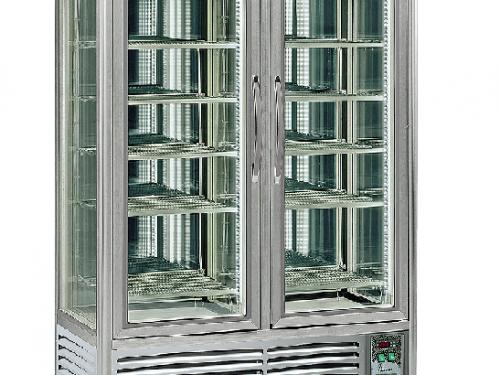 Blackinox Armário Expositor Pastelaria Congelação 4 Faces Vidro Mod. Tecfrigo Snelle 750 GBT New
