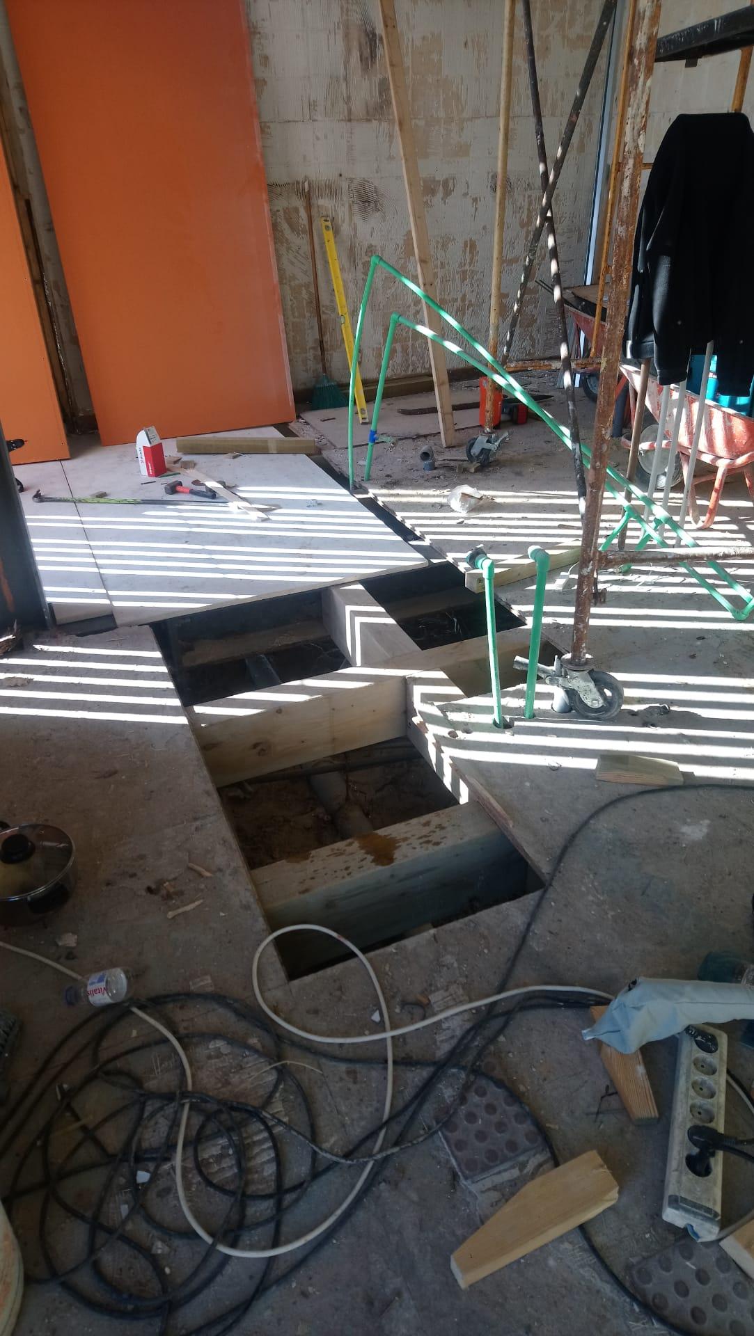 Fase de Obra Recuperação Chão